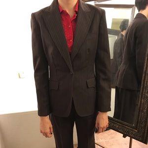 #10 Brown striped Anne Klein suit Jacket Pants 2